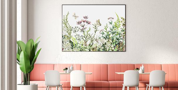 Plakat polne rośliny