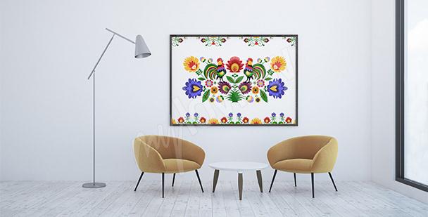 Plakat polski folklor do salonu