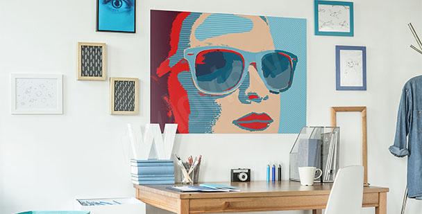 Plakat pop-art kobieta