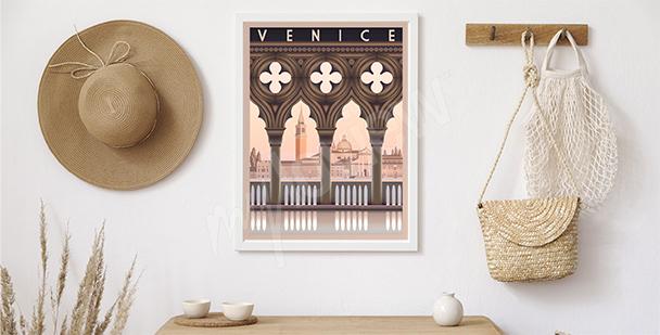 Plakat poranek w Wenecji
