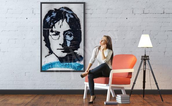 Plakat portret Johna Lennonca
