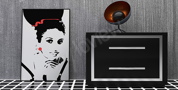 Plakat portret kobiety