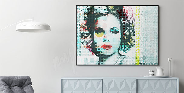 Plakat portret pop-art