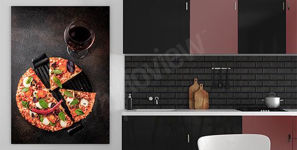 Plakat potrawy: pizza