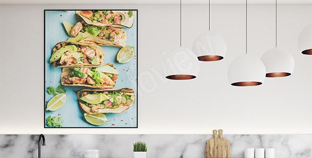 Plakat potrawy: tortille