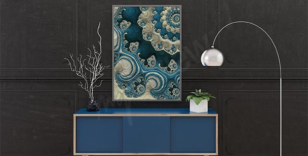 Plakat rafa koralowa abstrakcyjna