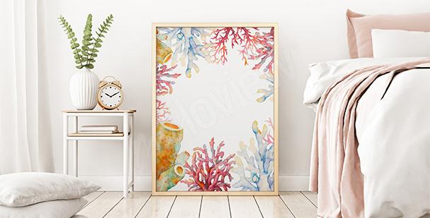 Plakat rafa koralowa do sypialni