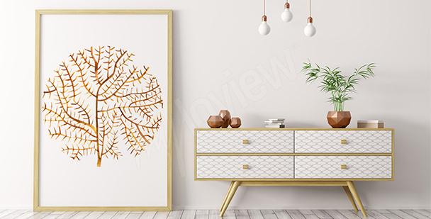 Plakat rafa koralowa minimalistyczna