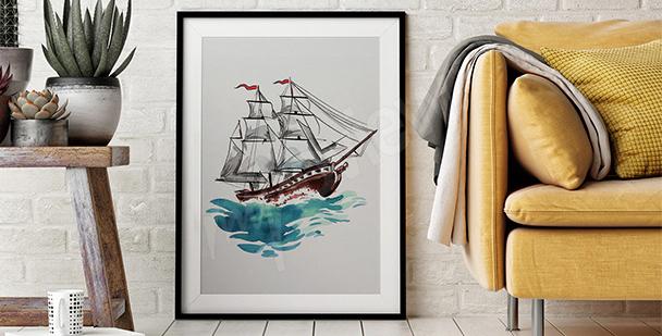 Plakat rejs statkiem