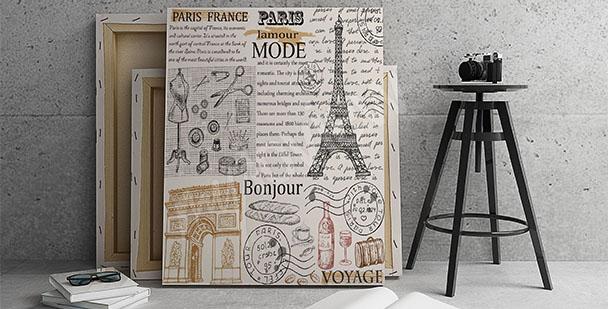 Plakat retro Paryż