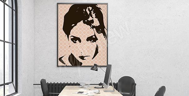 Plakat retro portret