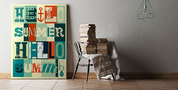 Plakat retro typografia