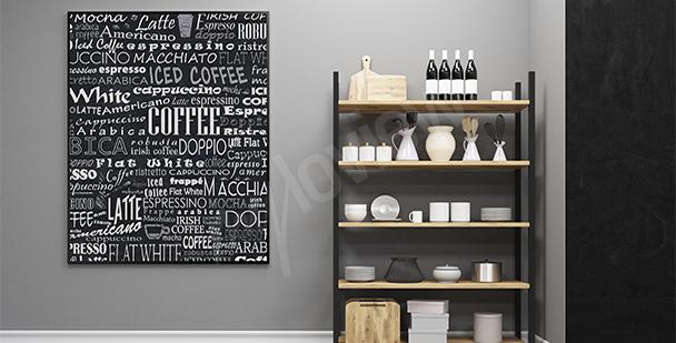 Plakat rodzaje kawy