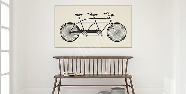 Plakat rower w stylu vintage