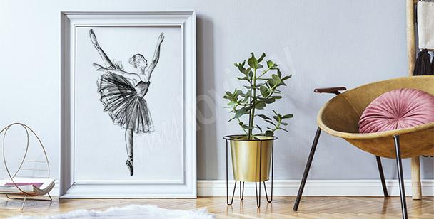 Plakat rysunek baletnicy