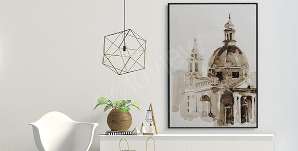 Plakat Rzym w sepii