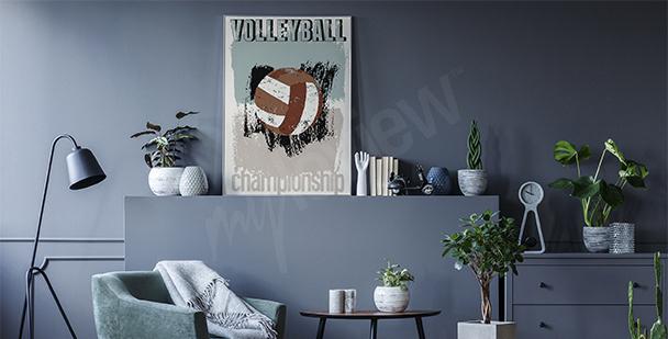 Plakat siatkówka vintage