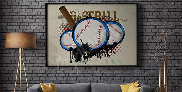 Plakat sportowy baseball