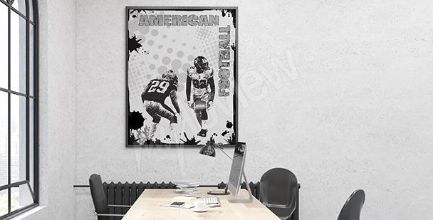 Plakat sportowy dla nastolatka
