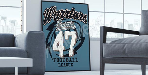 Plakat sportowy do salonu