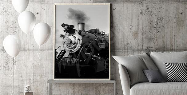 Plakat stary pociąg