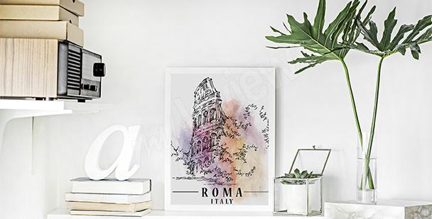 Plakat stolica Włoch
