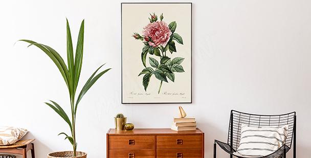 Plakat styl floral