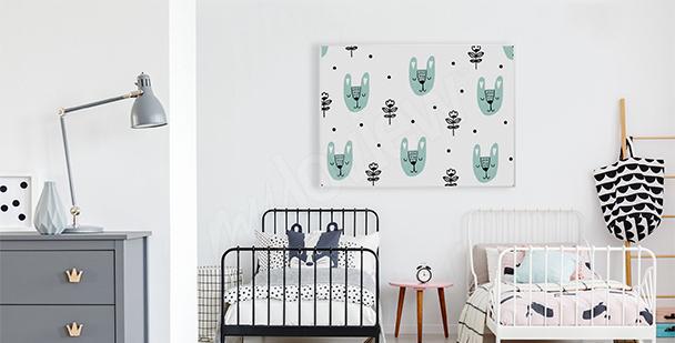 Plakat styl skandynawski dla dzieci
