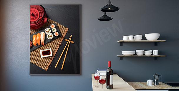 Plakat sushi do kuchni