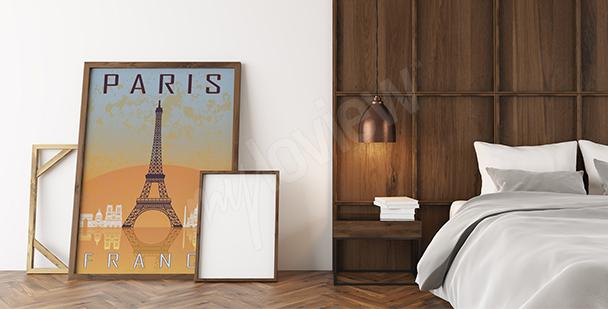Plakat symbol Paryża