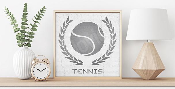 Plakat tenis dla nastolatka