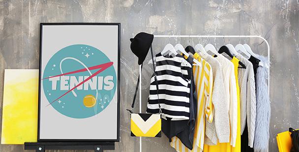 Plakat tenis w stylu nowoczesnym