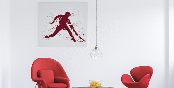 Plakat tenisista do salonu