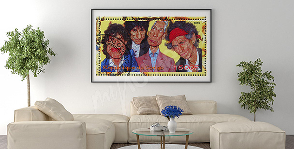 Plakat The Rolling Stones w karakaturze