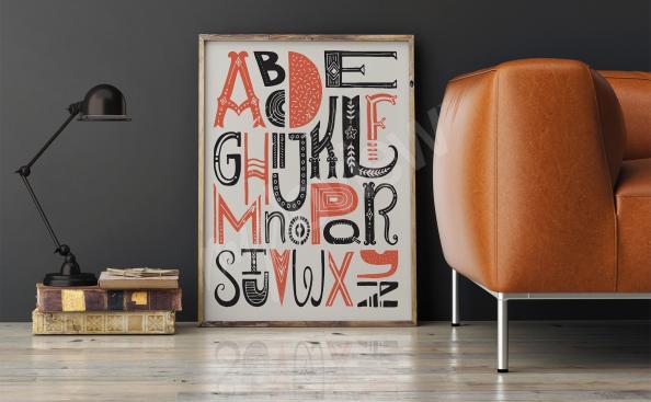 Plakat typograficzny alfabet