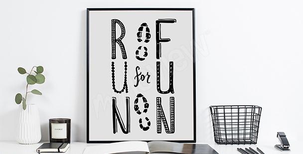Plakat typograficzny dla biegacza