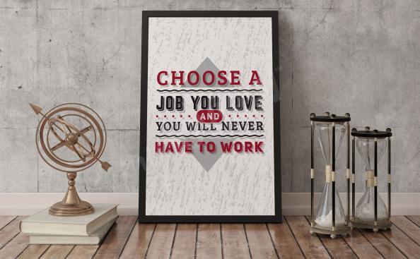 Plakat typograficzny motywacja