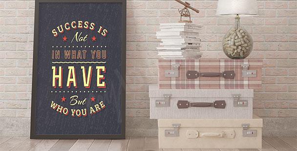 Plakat typograficzny o sukcesie