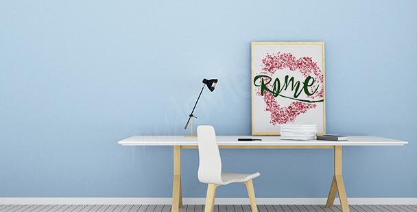 Plakat typograficzny: Rzym
