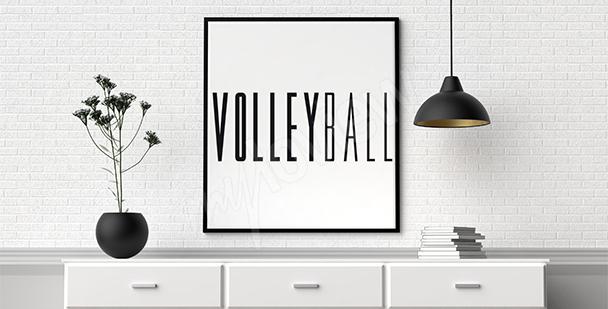 Plakat typograficzny siatkówka