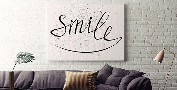 Plakat typograficzny uśmiechnij się
