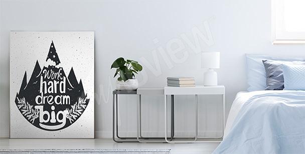 Plakat typograficzny z lasem