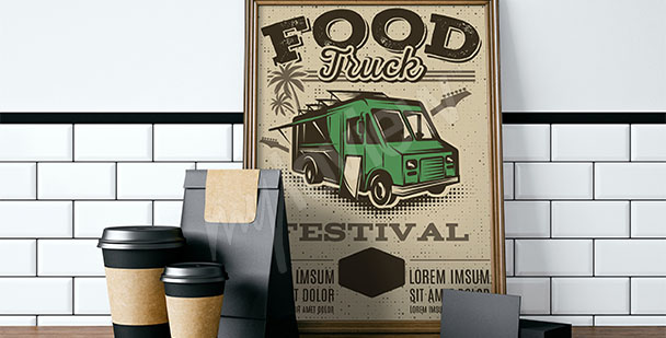 Plakat vintage do kuchni