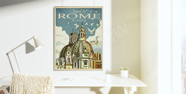 Plakat vintage rzymska bazylika