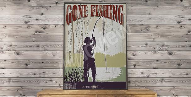 Plakat vintage wędkarstwo