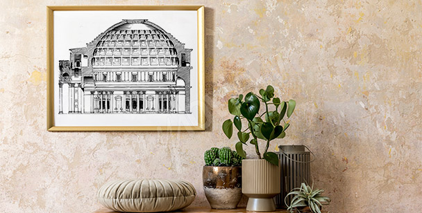 Plakat vintage z Panteonem