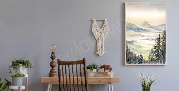 Plakat styl skandynawski góry