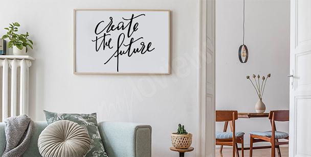 Plakat motywacyjny nowoczesny