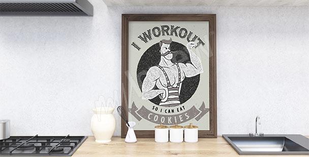 Plakat do kuchni z napisami