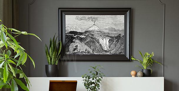 Plakat górska rzeka